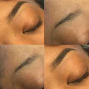 Before and After Brow Tinting and Shaping @Sunni