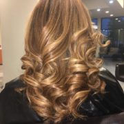 Color Correction from Dark to soft Brown with Golden Panels  @mercedehightower